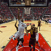 10 December 2016: The San Diego State Aztecs men's basketball team host's Saturday afternoon at Viejas Arena. San Diego State guard Jeremy Hemsley (42) goes up for a lay up in the first half. The Aztecs fell to the Sun Devils 74-63. www.sdsuaztecphotos.com