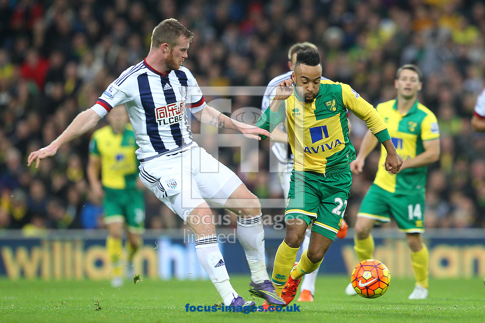 Nathan Redmond of Norwich in action during the Barclays Premier League match at Carrow Road, Norwich<br /> Picture by Paul Chesterton/Focus Images Ltd +44 7904 640267<br /> 24/10/2015