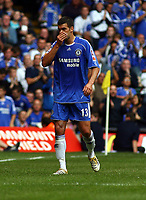 An Unhappy Michael Ballack is substituted after Hip Injury<br />