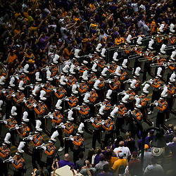 Oct 20, 2018; Baton Rouge, LA, USA; The LSU Tigers band performs before kickoff against the Mississippi State Bulldogs at Tiger Stadium. Mandatory Credit: Derick E. Hingle-USA TODAY Sports