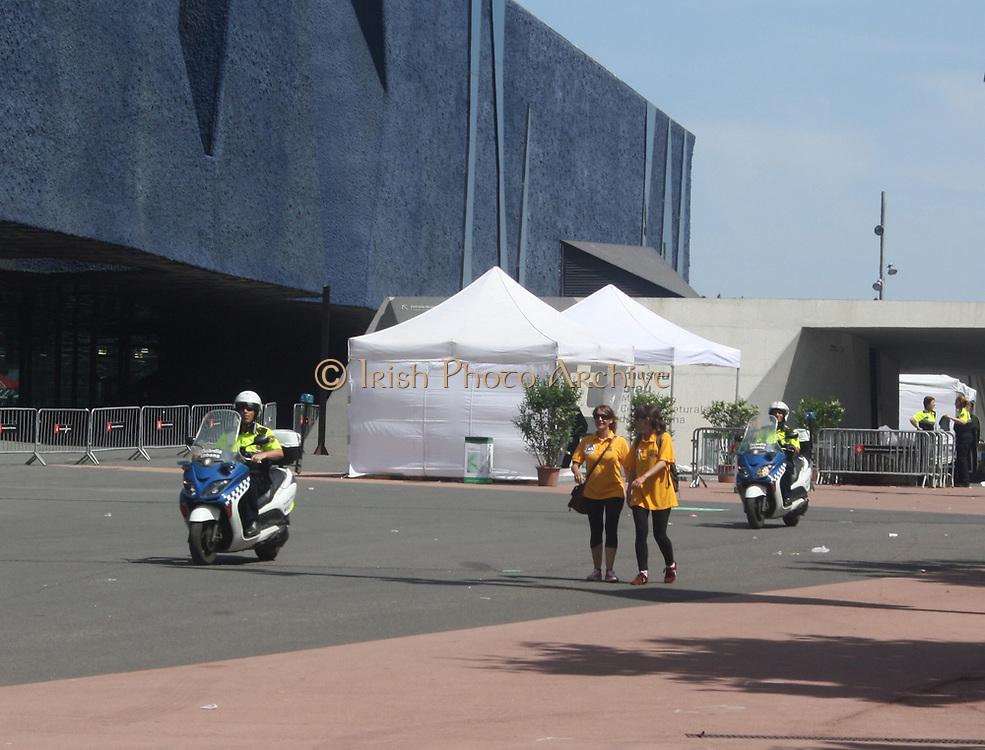 Police emergency motor bikes in Barcelona. Spain 2013