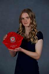 NEWPORT, WALES - Saturday, May 19, 2018: Ffion Spence during the Football Association of Wales Under-16's Caps Presentation at the Celtic Manor Resort. (Pic by David Rawcliffe/Propaganda)