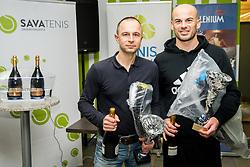 Matjaž Daneu, Rade Vogrinčič, BTC – Medot rekreativni teniški turnir dvojic, on January 13, 2018 in BTC Millenium centre, Ljubljana, Slovenia. Photo by Vid Ponikvar / Sportida