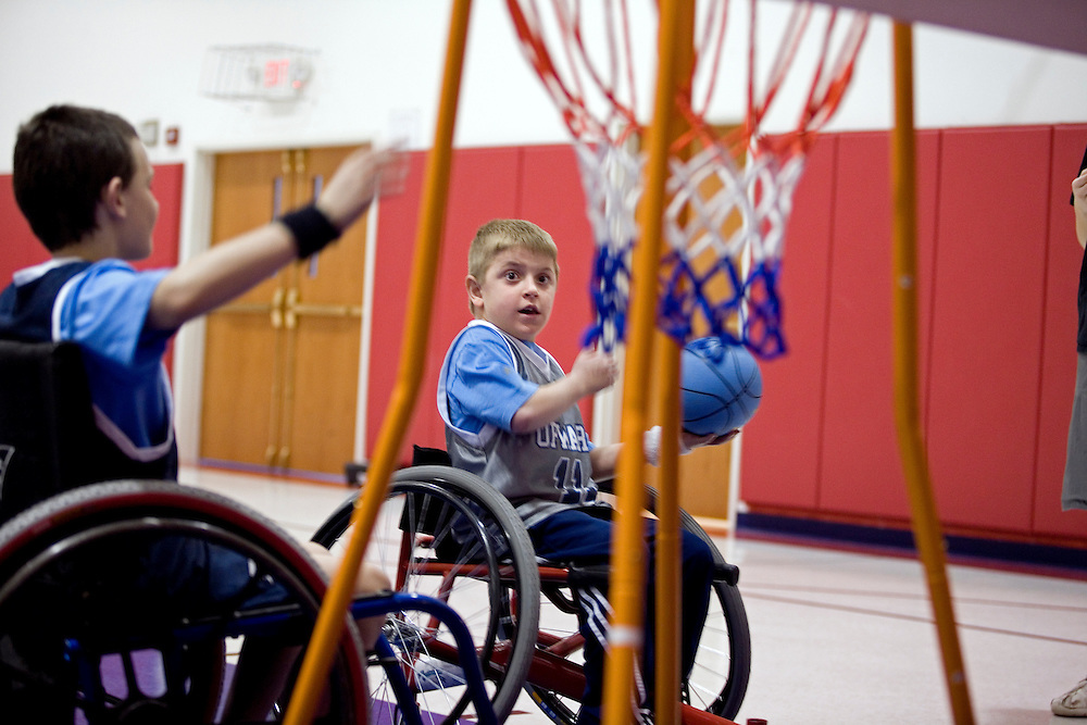 """Kellogg Foundation Assignment: Wheelchair Basketball..The contact is Pam Patula, 888/957-6245 runs an organization.called Socil (S.E. center for Independent Living )a member of April.  A weekly wheelchair basketball game in Lancaster, held on Jan 20th. Saturday at 10am. The basketball coach, Brett Harbage, is an Independent Living Specialist from SOCIL.  Other coach is Cheryl """"Hutch"""" Hutchinson, she is the adaptive physical education instructor of Fairfield County.  The adaptive basketball games are part of the Upward Basketball league, .  This is only Upwards adaptive league in the nation."""
