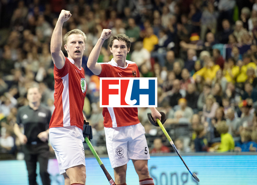 BERLIN - Indoor Hockey World Cup<br /> Final: Germany - Austria<br /> foto: Michael K&ouml;rper and Sebastian Eitenberger <br /> WORLDSPORTPICS COPYRIGHT FRANK UIJLENBROEK