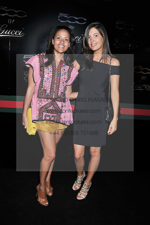 Left to right, RACHEL BARRETT and AMANDA SHEPPARD at a party to launch the Gucci designed Fiat 500 customized by Gucci Creative Director Frida Giannini in collaboration with FIAT's Centro Stile, held at Fiat, 105 Wigmore Street, London on 27th June 2011.