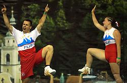 Flip, Slovenia at European Cheerleading Championship 2008, on July 5, 2008, in Arena Tivoli, Ljubljana, Slovenia. (Photo by Vid Ponikvar / Sportal Images).