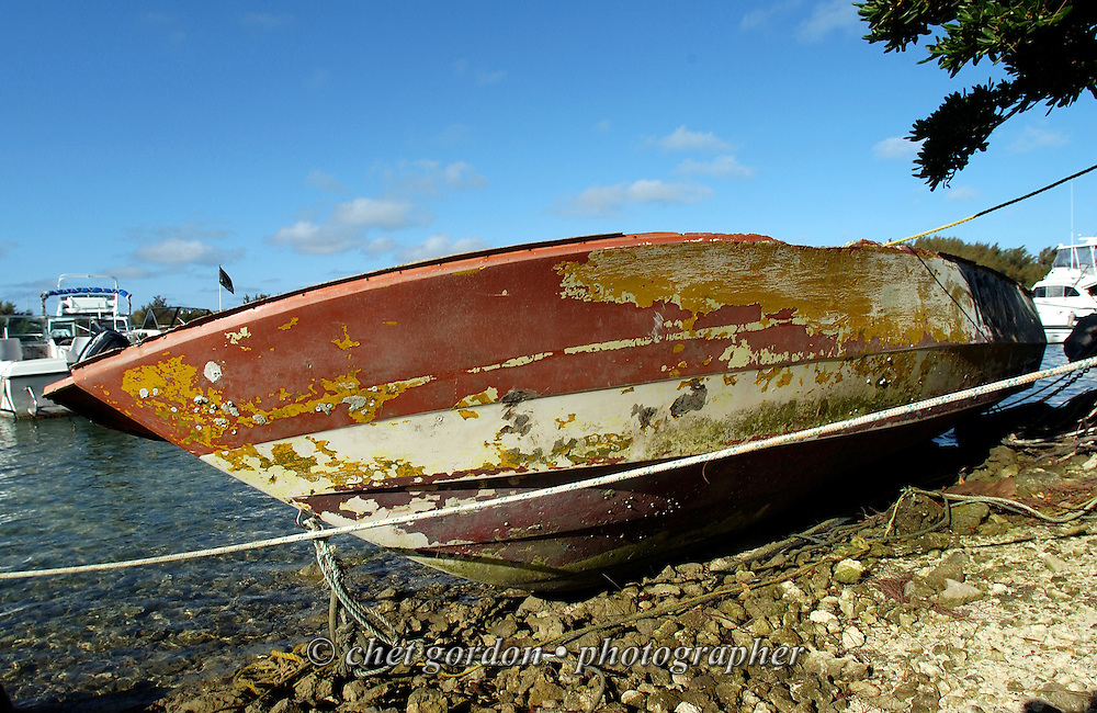 Abandoned boat in St. George, Bermuda on Thursday, June 4, 2009.