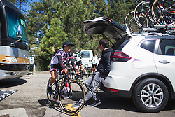 Coryn Rivera (USA) of Team Sunweb rides to the start on Stage 2 of the Amgen Tour of California - a 108 km road race, starting and finishing in South Lake Tahoe on May 18, 2018, in California, United States. (Photo by Balint Hamvas/Velofocus.com)
