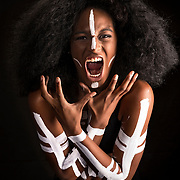 Fashion - Body Paint - Plano Studio - Photography by Michael Mulvey<br /> Model: Domineka Hassan