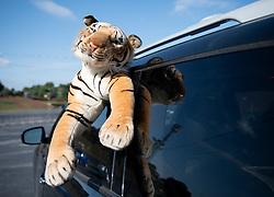 Auburn tiger prior to the Chick-fil-A Kickoff Game at  the Mercedes-Benz Stadium, Saturday, September 1, 2018, in Atlanta. (AJ Reynolds via Abell Images for Chick-fil-A Kickoff)