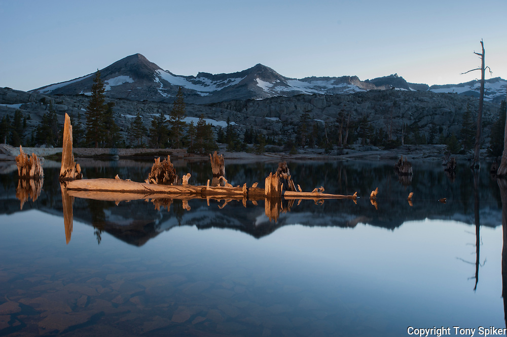 """Lake Aloha Night Reflections 2"" - Photograph of Lake Aloha, located in Desolation Wilderness near the South Shore of Lake Tahoe"