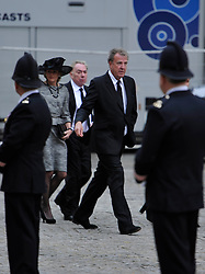© Licensed to London News Pictures. 17 April 2013. St Paul's Cathedral London. Jeremy Clarkson and Julian Lloyd Webber arrive. Funeral of Baroness Thatcher, former Conservative Prime Minister. Photo credit : MarkHemsworth/LNP