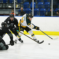 1st year forward Zak Zborosky (32) of the Regina Cougars in action during the Men's Hockey Shine On Game on December 2 at Co-operators arena. Credit: Arthur Ward/Arthur Images