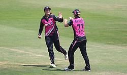 New Zealand fielder Suzie Bates celebrates catching South Africa batter Laura Wolvaardt during the T20 Tri Series match at the Brightside Ground, Bristol.