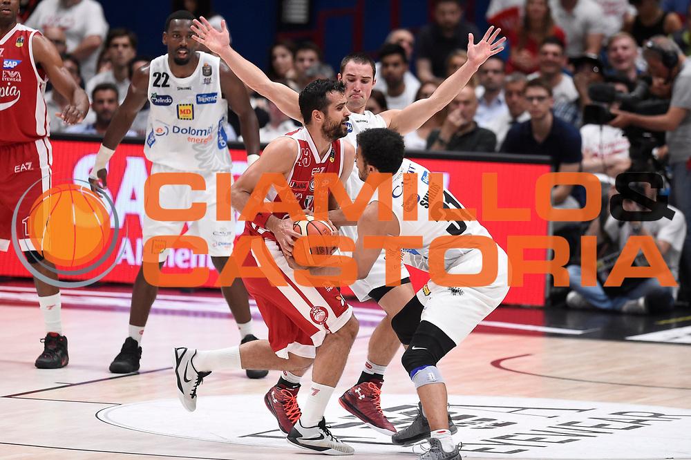 Simon Krunoslav<br /> EA7 Emporio Armani Olimpia Milano - Dolomiti Energia Aquila Basket Trento<br /> Lega Basket Serie A, Semifinali Playoff 2016/2017<br /> Milano, 25/05/2017<br /> Foto Ciamillo-Castoria