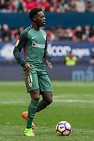 Inaki Williams of Athletic Club during the match of  La Liga between Club Atletico Osasuna and Athletic Club Bilbao at El Sadar Stadium  in Pamplona, Spain. April 01, 2017. (ALTERPHOTOS / Rodrigo Jimenez)