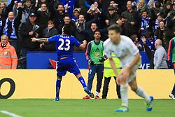 Leonardo Ulloa of Leicester City celebrates after scoring his sides second goal  - Mandatory by-line: Matt McNulty/JMP - 24/04/2016 - FOOTBALL - King Power Stadium - Leicester, England - Leicester City v Swansea City - Barclays Premier League
