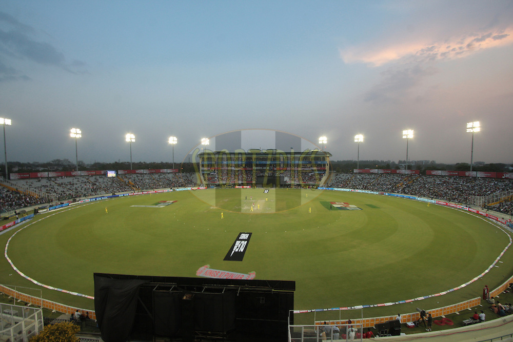 A general view of stadium during match 9 of the Indian Premier League ( IPL ) Season 4 between the Kings XI Punjab and the Chennai Super Kings held at the PCA stadium in Mohali, Chandigarh, India on the 13th April 2011..Photo by Anil Dayal/BCCI/SPORTZPICS