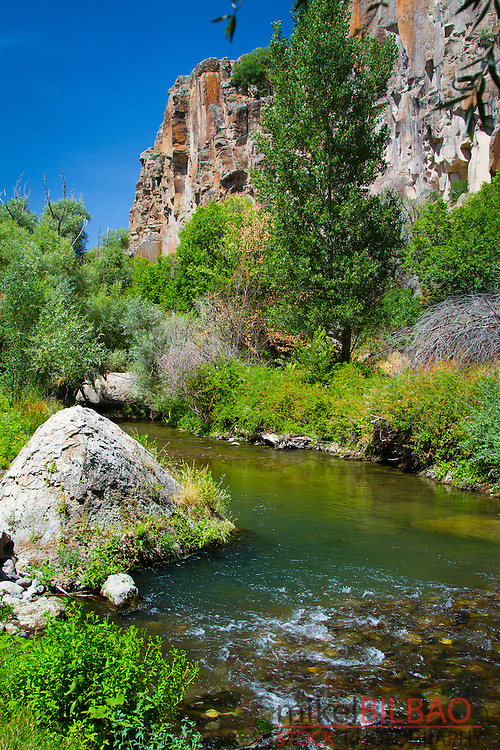 Ihlara Valley and Melendiz Stream. Aksaray province. Cappadocia, Turkey.