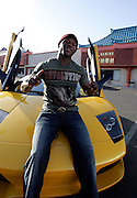 World Exclusive images of Floyd Mayweather Jr taken outside his gym in Las Vegas in his yellow Lamborghini as reports surfaced that he is coming out of retirement to fight Juan Manuel Marquez on 18 July. Las Vegas, Nevada, 30th April 2009.