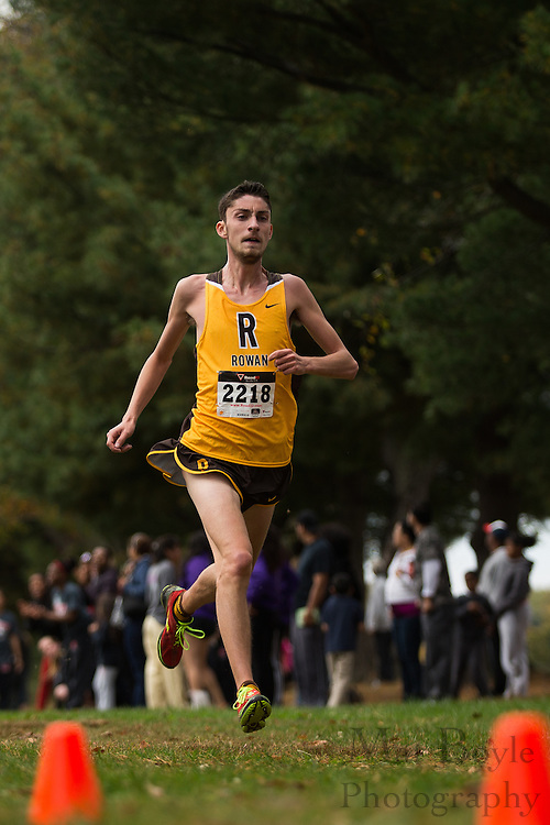 Rowan University Evan Norwood - Collegiate Track Conference  Cross-Country Men's Championship at Gloucester County College in Sewell, NJ on Saturday October 19, 2013. (photo / Mat Boyle)