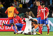 John Mensa (Ghana) celebrates after the 2010 FIFA World Cup South Africa Group D match between Serbia and Ghana at Loftus Versfeld Stadium on June 13, 2010 in Pretoria, South Africa.