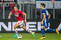 ALKMAAR - 25-08-2016, AZ - Vojvodina, AFAS Stadion, 0-0, AZ speler Ron Vlaar, Vojvodina speler Palocevic Aleksandar
