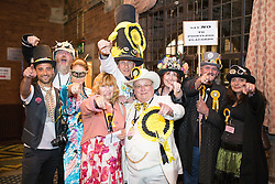© Licensed to London News Pictures . 05/06/2014 . Newark , Nottinghamshire , UK . The Monster Raving Loony Party arrive . The count for the Newark by-election at Kelham Hall , Newark , this evening (Thursday 5th June 2014) . Photo credit : Joel Goodman/LNP