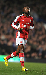 LONDON, ENGLAND - Sunday, February 7, 2010: Arsenal's William Gallas during the Premiership match at Stamford Bridge. (Photo by Chris Brunskill/Propag