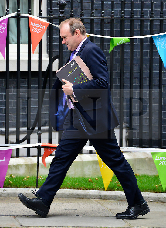 © Licensed to London News Pictures. 11/09/2012. Westminster, UK Secretary of State for Energy and Climate Change - Edward Davey. MP's arrive for Cabinet at number 10 Downing Street today 11/09/12. Photo credit : Stephen Simpson/LNP