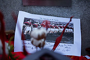 Picture of the Busby Babes during the ceremony at Manchesterplatz, Munich, Germany. Picture by Phil Duncan.