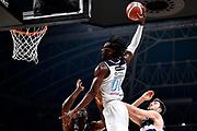 NIKON D5 • AF-S Nikkor 70-200mm f/2.8E FL ED VR<br /> f/3.5 • ISO 2000 • 1/1250<br /> <br /> BrownJohn <br /> Happy Casa Brindisi - Pompea Fortitudo Bologna <br /> LBA Final Eight 2020 Zurich Connect - Semifinale<br /> Basket Serie A LBA 2019/2020<br /> Pesaro, Italia - 15 February 2020<br /> Foto Mattia Ozbot / CiamilloCastoria