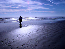 Man on the Morning Beach, Saint Augustine Beach, Florida