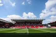 General view of the stadium, before the EFL Sky Bet Championship match between Bristol City and Birmingham City at Ashton Gate, Bristol, England on 7 May 2017. Photo by Andrew Lewis.