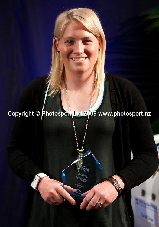 Sportswoman of the Year Katie Glynn (hockey). Sport Auckland Sporting Excellence Awards, Alexandra Park Function Centre, Auckland. Wednesday 9th December 2009. Photo: Simon Watts/PHOTOSPORT