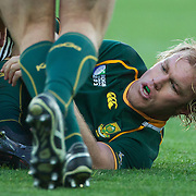 Schalk Burger, South Africa, in action during the South Africa V Australia Quarter Final match at the IRB Rugby World Cup tournament. Wellington Regional Stadium, Wellington, New Zealand, 9th October 2011. Photo Tim Clayton...