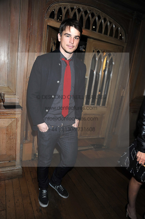JOSH HARTNETT at a party to celebrate the launch of Hollywood Domino - a brand new board game, held at Mosimann's 11b West Halkin Street, London on 7th November 2008.  The evening was in aid of Charlize Theron's Africa Outreach Project.