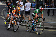 Katarzyna Niewiadoma (POL) riding for WM3 Pro Cycling on her way to winning the overall winner title during the OVO Energy Women's Tour, London Stage, at Regent Street, London, United Kingdom on 11 June 2017. Photo by Martin Cole.