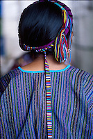 Mayan woman wears a traditional huipil, Western Highlands, Guatemala