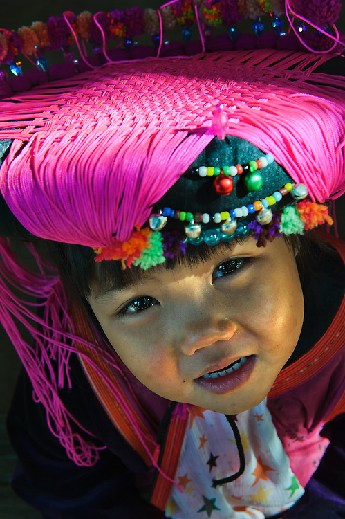 A young girl in a village near Chiang Mai, Thailand.
