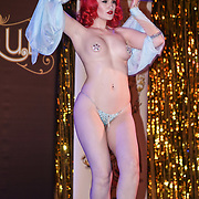 Lady Lolly Rouge ,Bristol preforms at the London Burlesque Festival - The Crown Jewels at Conway Hall on 19th May 2017, UK. by See Li