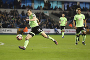 Bournemouth Defender Brad Smith (14) with a shot on goal during the The FA Cup 3rd round match between Millwall and Bournemouth at The Den, London, England on 7 January 2017. Photo by Matthew Redman.