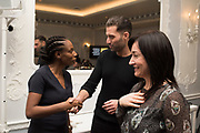DAWN LAKE; OMAR SHARIF JNR, KRISTINA ERDELY. The Academy Museum of Motion Pictures hosts a lunch and press briefing about the Museum's<br /> 2019 opening in Los Angeles. The Dorchester<br /> Park Lane,  London. 10 December 2018