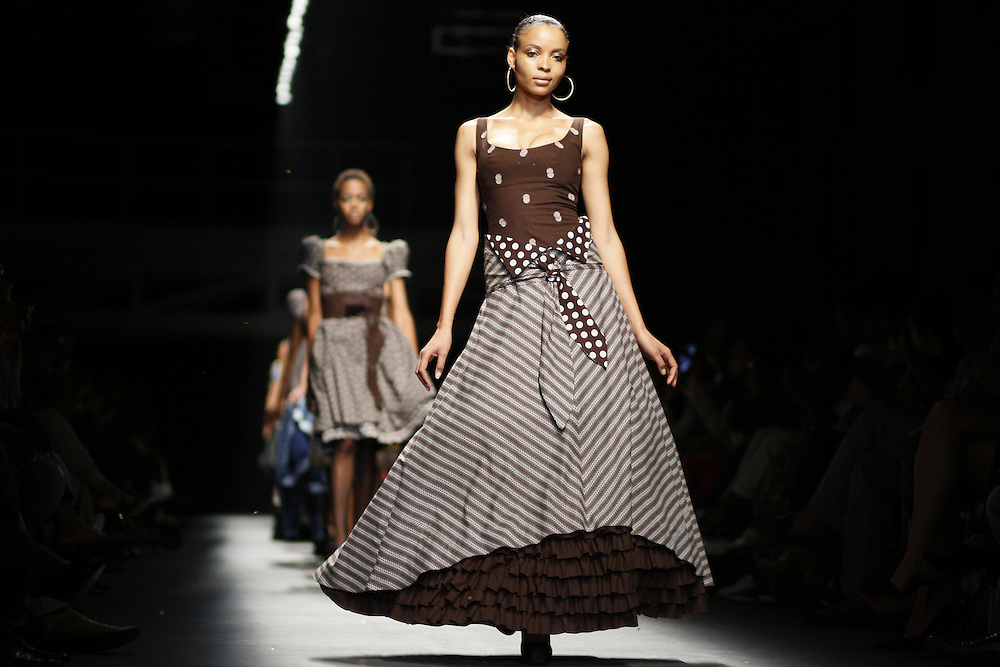 Designer Grapevine / Bongiwe Walaza show at the bus factory during Johannesburg fashion week..South Africa..Picture by Zute Lightfoot www.lightfootphoto.com.15th February 2010