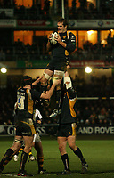 Photo: Rich Eaton.<br /> <br /> Worcester Rugby v London Wasps. Guinness Premiership. 26/01/2007. Drew Hickey of Worcester wins lineout ball in the second half