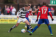 Forest Green Rovers Charlie Cooper(20) during the Vanarama National League match between Dagenham and Redbridge and Forest Green Rovers at the London Borough of Barking and Dagenham Stadium, London, England on 11 March 2017. Photo by Shane Healey.