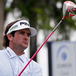 Apr 27, 2012; Avondale, LA, USA; Bubba Watson on the 2nd hole during the second round of the Zurich Classic of New Orleans at TPC Louisiana. Mandatory Credit: Derick E. Hingle-US PRESSWIRE