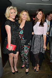 Left to right, NATALIE COYLE, KIM CATTRALL and LUCY MECKLENBURGH at the 3rd birthday party for Spectator Life magazine hosted by Andrew Neil and Olivia Cole held at the Belgraves Hotel, 20 Chesham Place, London on 31st March 2015.