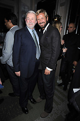 Left to right, COLIN MCDOWELL and STEFANO PILATI at a party for Yves Saint Laurent's Creative Director Stefano Pilati given by Colin McDowell held at The Connaught Bar, The Connaught, Mount Street, London on 29th October 2008.